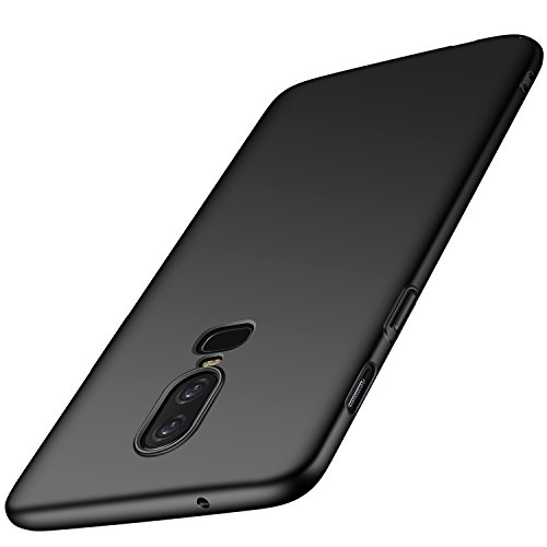 anccer OnePlus 6 Case [Colorful Series] [Ultra-Thin] [Anti-Drop] Premium Material Slim Fit Cover for OnePlus 6 (Black)