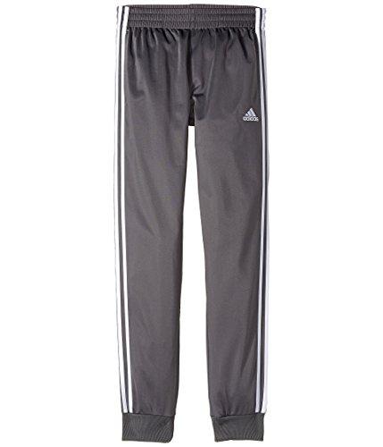 adidas Kids  Boy's Iconic Tricot Jogger Pants  Grey Five LG
