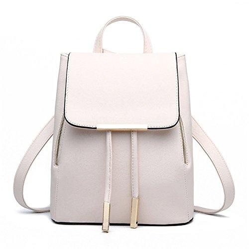 JSbetter - Bolso mochila  para mujer Rojo rojo blanco