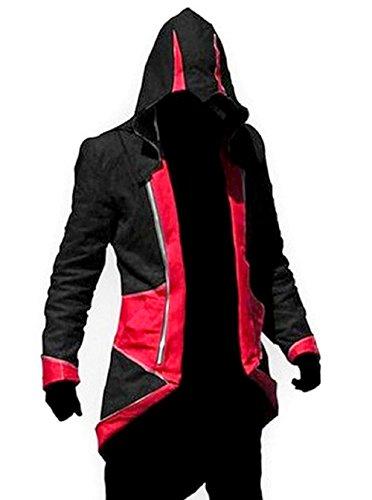 Cosplay E Degli Nero Assassini Creed Di Rosso L xl Credo Assassin's Giacche Italiana UqdwUS