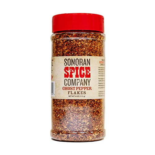 Ghost Chili Pepper - Bhut Jolokia - Flakes 4 Oz by Sonoran Spice
