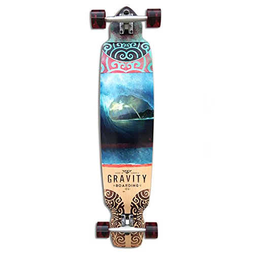 GRAVITY Longboard Complete RAINBOW BARREL DROP KICK 9.5