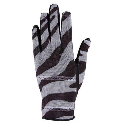 HJ Ladies Solaire half-fingerゴルフグローブブラックZebra Large Right Hand   B002IYOCBE
