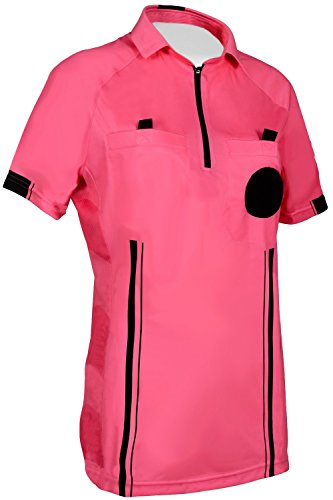(NEW! Women's 2018 Soccer Referee Jersey (Pink, Large))