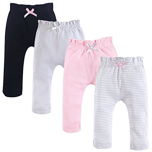 - Touched by Nature Baby Organic Cotton Pants, Gray and Pink 4Pk, 18-24 Months (24M)