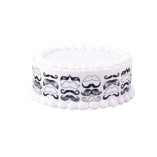 Lucks Designer Prints, Mustache, 2-1/4 X 10 Inch, 36 Count -