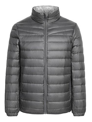 [해외]말 차 생활 남성 겨울 수납 가능 울트라 라이트 다운 재킷 경량 방수 다운 패딩 자 켓 코트 파커 / MATCHA LIFE Mens Winter Packable Ultra Light Down Jacket Lightweight Waterproof Down Puffer Jacket Coat Parka
