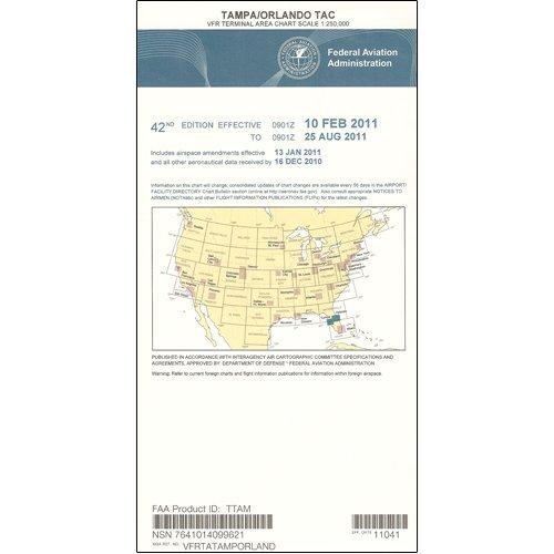 FAA Chart: VFR TAC TAMPA/ORLANDO TTAM (Current Edition) (Terminal Area Chart)