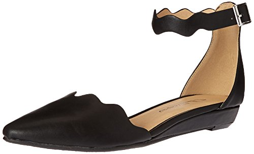 CL by Chinese Laundry Women's Studio Pointed Toe Two Piece Flat, Black Smooth, 7.5 M (Smooth Point Toe Pump)