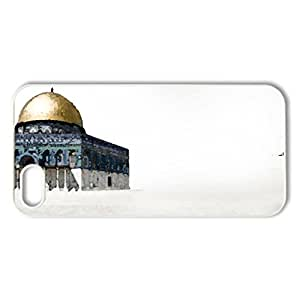 Al Quds - Case Cover for iPhone 5 and 5S (Religious Series, Watercolor style, White)