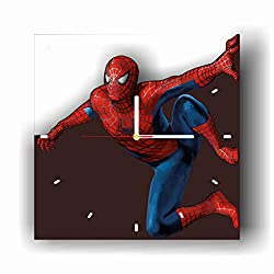 Original Handmade Wall Clock Spiderman 11.8 Get Unique décor for Home or Office - Best Gift Ideas for Kids, Friends, Parents and Your Soul Mates