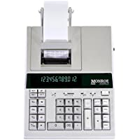 Monroe 2020PlusX 12-Digit Medium-Duty Color Printing Calculator (Calculator, Ivory)