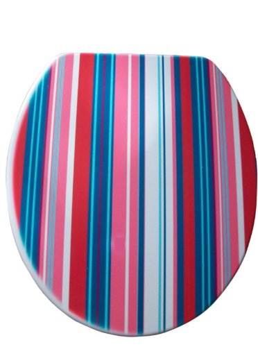 Excellent Bemis Moulded Wood Toilet Seat Multi Colour Stripes Amazon Short Links Chair Design For Home Short Linksinfo