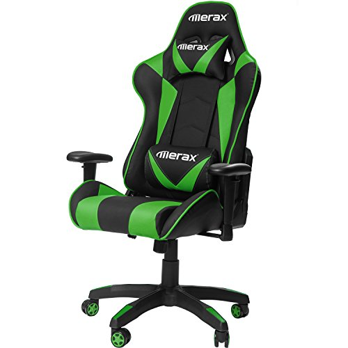 Merax Gaming Chair High Back Computer Chair Ergonomic Design Racing Chair (Green)