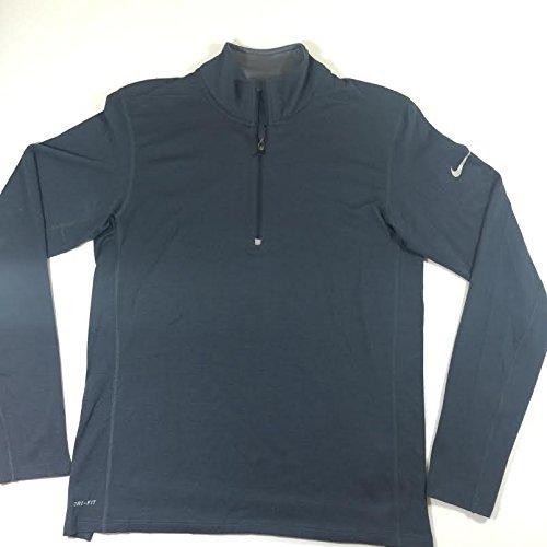 Nike Men's Element Dri-Fit Wool Half-Zip Long Sleeve Running Shirt Grey (Small)