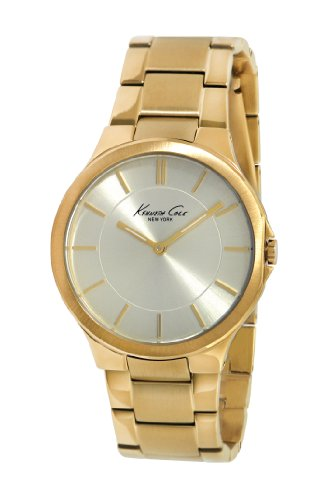 Kenneth Cole New York Women's Quartz Stainless Steel Case Stainless Steel Bracelet Gold Casual Watch,(Model:KC4876)