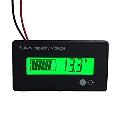 12V LiFePo4 LFP Battery Fuel Gauge, YZ 12V 4S LiFePo4 (Lithium Iron Phosphate) Battery Meter For ATV,Quads and 4 Wheelers,Stages Power Meter Battery