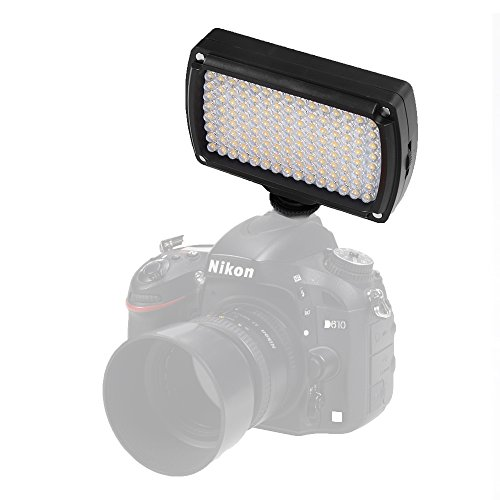 ASHANKS LED96 On Camera LED Video Light Hotshoe Digital Cameras Camcorder Lighting for Canon, Nikon, Pentax, Panasonic,SONY, Samsung and Olympus Digital SLR Cameras Wedding Shooting by ASHANKS
