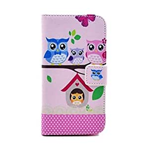 JOE Cute Owl Families Sitting on The Tree Pattern PU Leather Full Body Case for Samsung S3 I9300