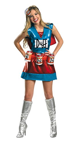 Disguise Womens The Simpsons Funny Costume Halloween Fancy Sexy Dress, L (12-14) -