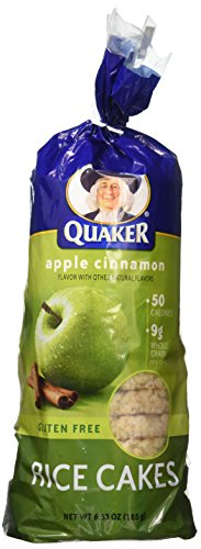 Quaker Rice Cake, Apple Cinnamon, 6.53oz (Pack of -
