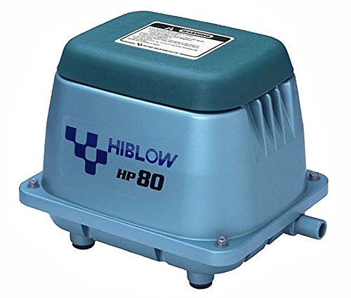 HI-BLOW (HP 80) LINEAR AIR PUMP POND AERATION SEPTIC AERATOR by Hiblow