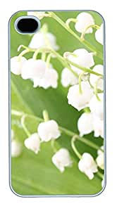 iPhone 4 4s Case, iPhone 4 4s Cases White bell orchid Custom Design PC Hard Plastics Case Cover Protector for iPhone 4 4s White