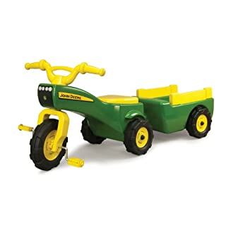 TOMY John Deere Pedal Tractor And Wagon
