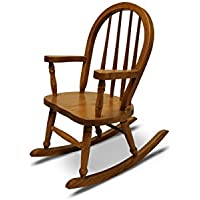 Weaver Craft Childs Rocking Chair Amish Made (Medium Oak) - Fully Assembled