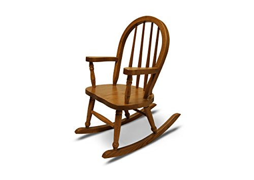Weaver Craft Child's Rocking Chair Amish Made (Medium Oak) - Fully Assembled by Weavercraft