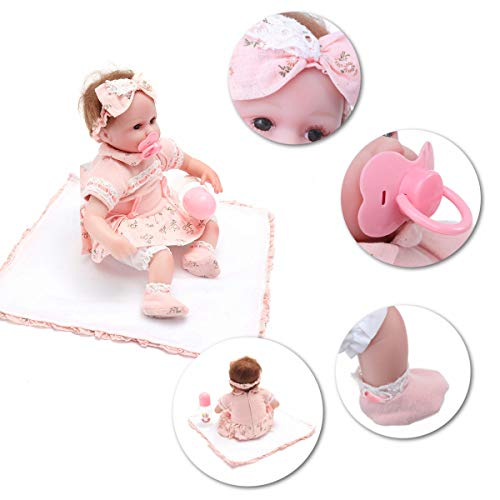 - 45CM Doll Reborn Babies Silicone Reborn Dolls Toys Realistic Lifelike Reborn Toys Babies Toys - Dolls & Stuffed Toys Dolls & Action Figure - 1 x Baby Doll With Clothes