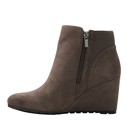 discount shopping online Clarks Rosepoint Bell Womens Ankle Booties Grey Suede 9.5 footlocker pictures 4DRLfo7