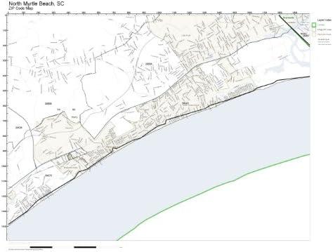Myrtle Beach Zip Code Map Amazon.com: ZIP Code Wall Map of North Myrtle Beach, SC ZIP Code