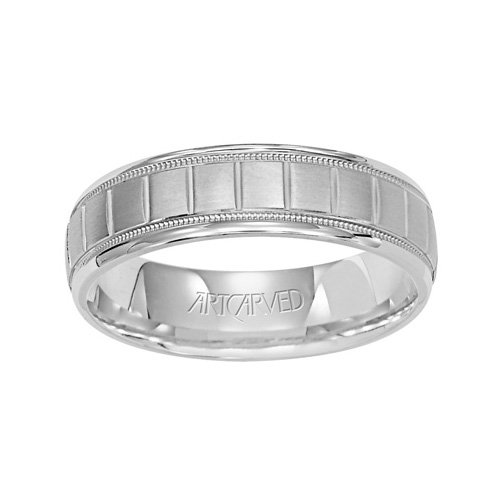 - 11-WV7268PD_G Palon Carved Palladium Mens Wedding Band from ArtCarved