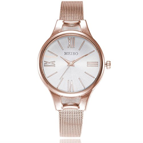 Paymenow Clearance Watches for Women, Women Analog Fashion Lady Watches Female Elegant Stainless Steel Wrist Watches (Rose (Gents Designer Watches)