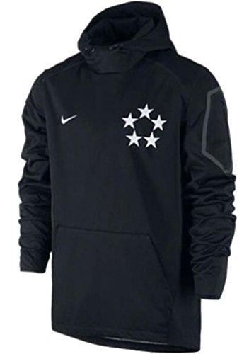 Men's Nike Field General Fly Rush 2.0 Football Jacket Hoodie Black 684371-011 (Medium) (Nike Football Sweatshirt)