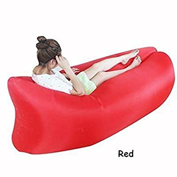 Prime Mks Red Inflatable Lazy Air Bed Lounger Couch Chair Sofa Bag Alphanode Cool Chair Designs And Ideas Alphanodeonline