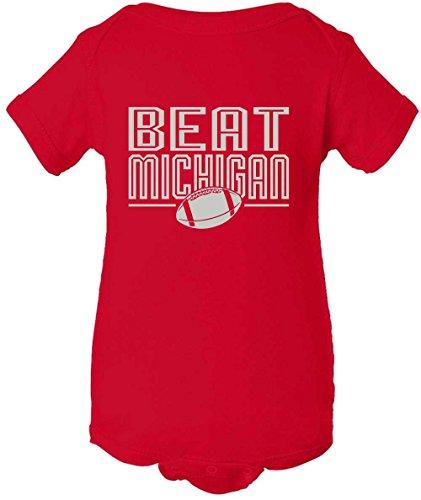 Onesie Cotton Ohio (Ohio State Buckeyes Fans Beat Michigan Football T-Shirt - Red (Newborn, Onesie))