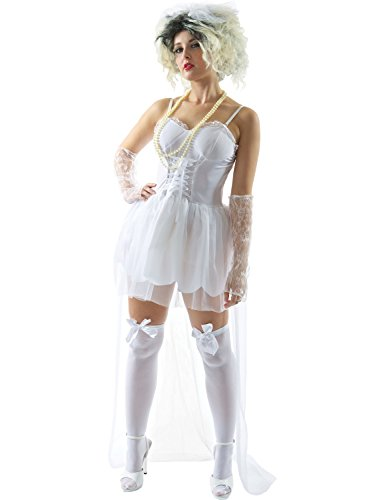 Dress Like A Celebrity Costume Party (80s Pop Bride Costume - Large)