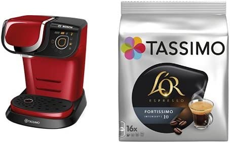 Bosch TAS6003 Tassimo My Way (color rojo) + Pack café 5 paquetes ...
