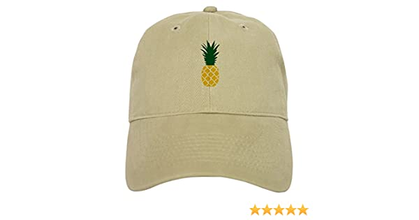 33e0e5efeb8 Amazon.com  CafePress - Pineapple Cap - Baseball Cap with Adjustable Closure