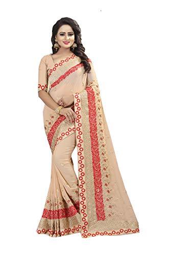 Da Partywear Traditional Sarees Indian Ethnic Chiku Women Facioun Sari Designer fwXrqfY