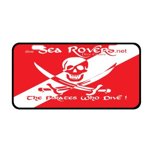 - Dive Flag License Plate with Beautiful Design-11.8