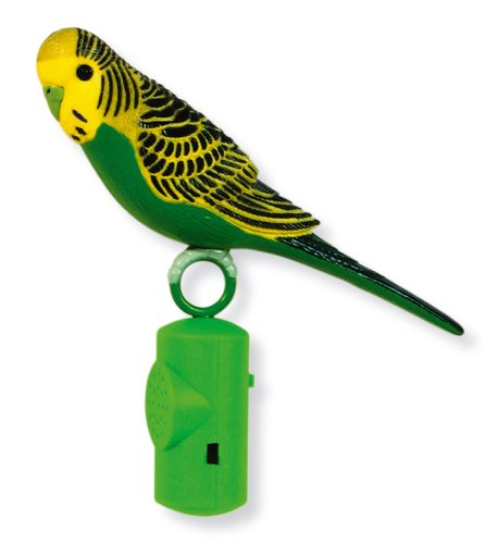 Living World Life-Size Singing Parakeet, Colors may Vary ()