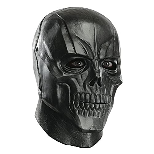 Rubies Mens Arkham City Adult Deluxe Overhead Latex Black Mask, Multi, One Size