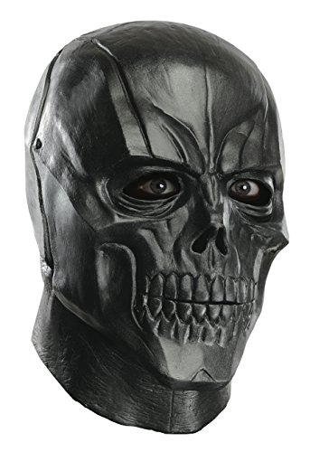 Rubie's Men's Arkham City Adult Deluxe Overhead Latex Black Mask, Multi, One Size
