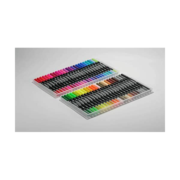 Dual-Tip-Brush-and-Fine-Point-Sketch-Markers-48-Pack-Comic-Book-Color-Range