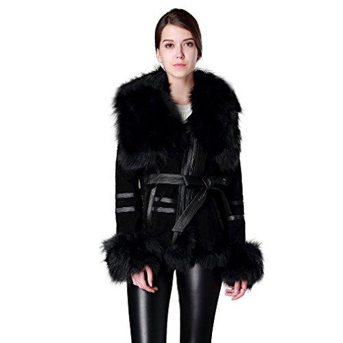 Courtes Courtes Courtes Cuir Fur V¨¦ritable Story 13055 Daim Daim Daim 7zqx8a Veste Noir Femme qB48n4
