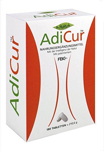 Gesund abnehmen, AdiCurTM mit original FBCxTM mit Nahrungsfasern Fett binden - 180 Tabletten von Dr. Hittich