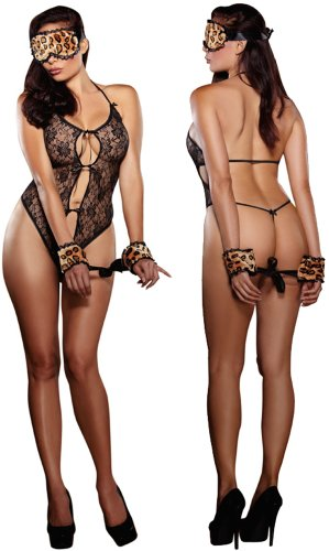 Plus Size Black 3 Piece Lingerie Set